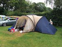 Eurohike Ullswater 6 berth tent, with 1 x double air bed and 1 x electric cable