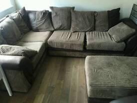 L shape sofa with footstool