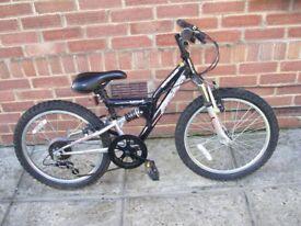 apollo child bike ready to ride 11.5; frame 20; wheels 6 gears