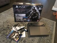 PS4 500GB Steel Grey Limited Edition Batman Console, boxed with original receipt
