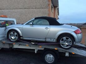 AUDI TT SOFT TOP BREAKING FOR PARTS