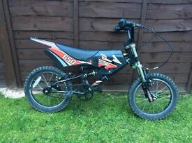 "Motorbike style bike , 16"" wheel"