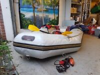 2.3M Boat with Yamaha 5HP OUTBOARD. FULLY EQUIPPED w/ tank, anchor, jacket +more