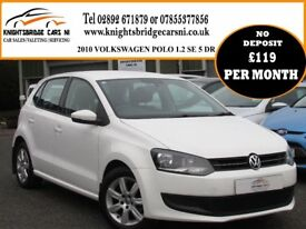 2010 NEW MODEL VOLKSWAGEN POLO 1.2 SE 5 DR 1 OWNER 84021 MILES FULL SERVICE HISTORY EXCELLENT ORDER