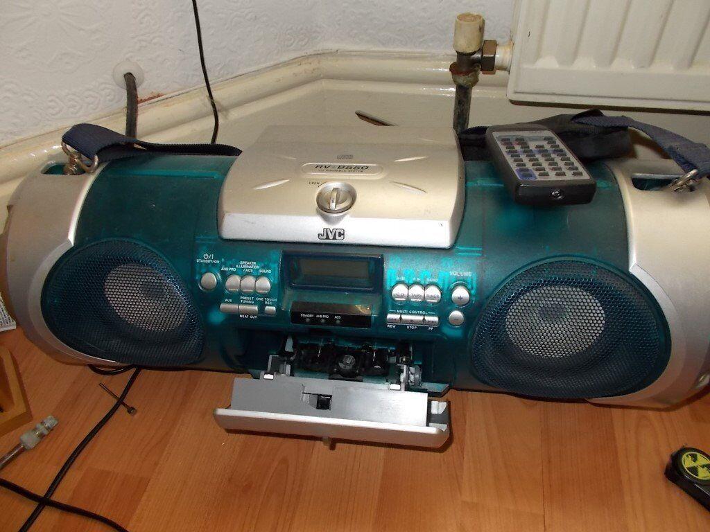 Vintage JVC RV-B550 Kaboom Box Portable CD, RADIO, CASSETTE PLAYER,  AMPLIFIER