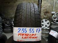 set of 4 235 55 17 MICHELIN LATITUDES 6mm tead £70 pair or £120 set of 4 supp & fitted 7-DAYS