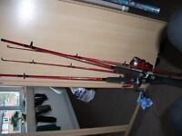 fishing rods NEW 7ft shakespear combo with reel and line