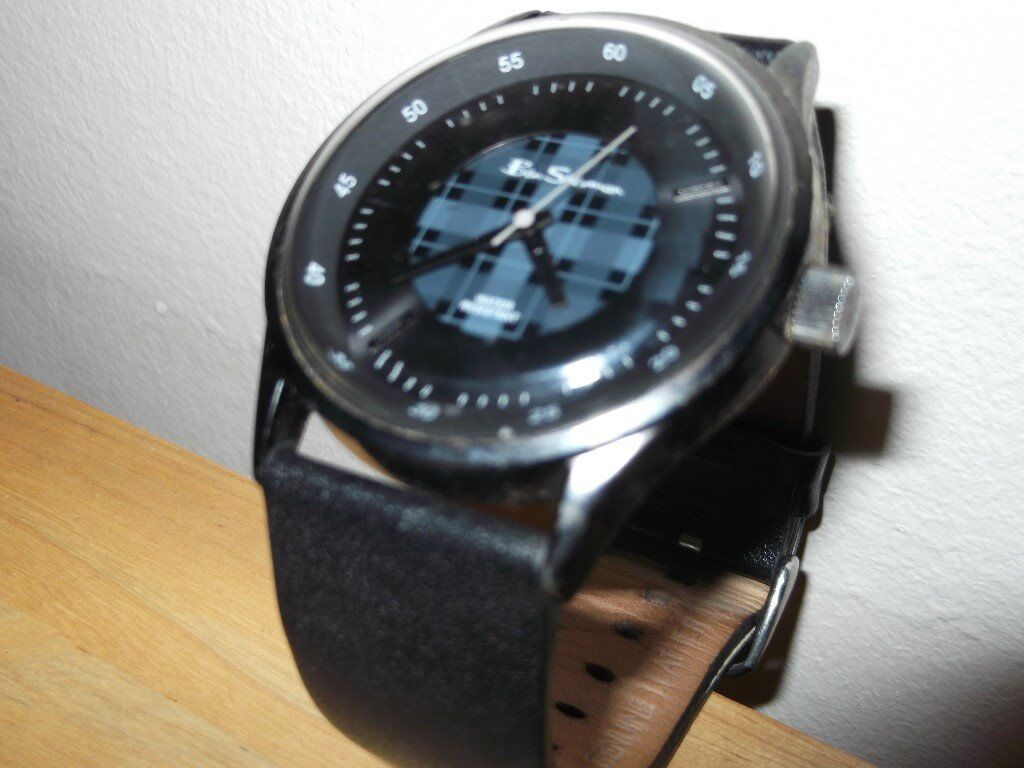 Gents Ben Sherman Watchin AberdeenGumtree - Ben Sherman Watch in Excellent condition New Battery Just Fitted Blue/Grey Tartan Facing with Black Leather strap Water Resistant. Must be Collected. £20 O.N.O