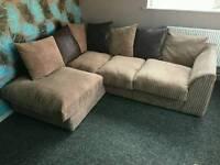 Thick cord Corner sofa unit