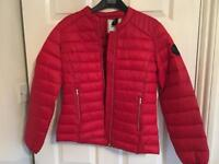Red asos coat size 8