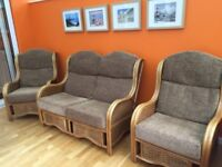 Conservatory Furniture Set 3 piece (1 Two Seater & 2 Chairs)