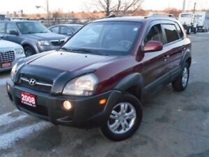 2008 Hyundai Tucson LIMITED, 4WD, SUNROOF, LEATHER, POWER GROUP,