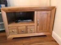 Corner Oak TV Cabinet