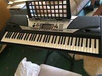 Yamaha psr-gx76 electronic keyboard and stand