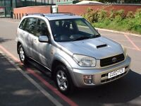 2002 Toyota RAV4 VX 2.0 D-4D 5 DOOR 102K *FSH+BLACK LEATHER+SUNROOF PX POSSIBLE