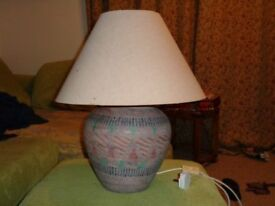 Pair of large table top lamps