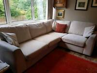 Creme corner couch