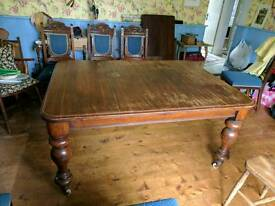 Victorian solid oak table