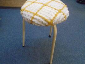 small metal framed stool.