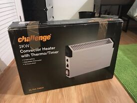 Argos 2kw convector electronic heater with timer, like NEW with original box!