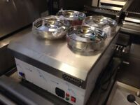 NEW WET BAIN MARIE 4 POT CATERING COMMERCIAL FAST FOOD KITCHEN RESTAURANT KEBAB CHICKEN TAKE AWAY