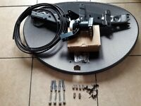 sky dish and quad lnb with full kit