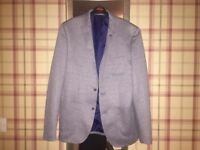 Grey quilted blazer small