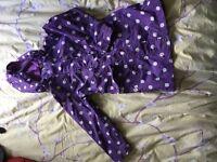 Peter storm kids purple polka dot raincoat age 5-6