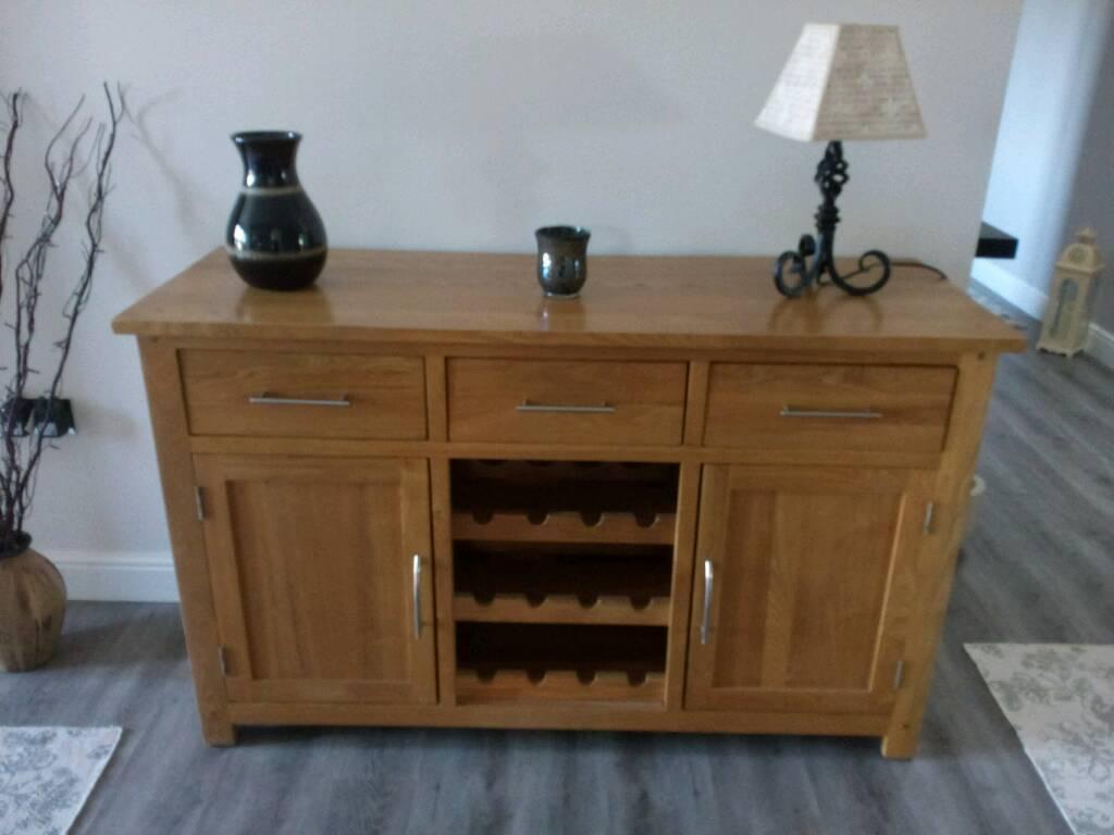 Solid oak sideboard and wine rack in Norwich, Norfolk Gumtree