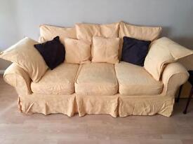 3 Seater Sofa, chair and footrest.