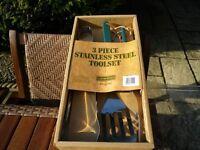 Bbq utensil set Stainless steel Boxed