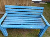 Large Wooden Garden Bench