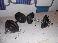2 x 10.5kg Cast Iron Dumbbells - Plymouth