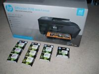 Brand new HP7510 Wide Format (handles A3 or A4) printer, plus brand new HP XL ink cartridges