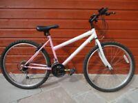 Challenge dreamer ladies bike, 26 inch wheels, 18 gears, 17 inch frame, working order