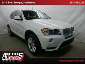 2013 BMW X3 xDrive28i + CUIR ROUGE + TOIT PANORAMIQUE + GPS