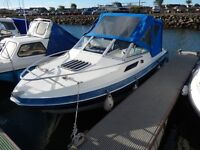 Boat Ernecraft Saltsurfer 5.4M, GRP Hull, 60HP Johnson VRO Outboard C/w Trailer + equipment