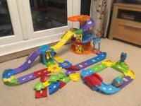 VTech parking tower, traffic track and roads