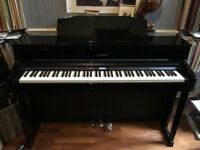 Roland HP605 Digital Piano, Polished Ebony - Excellent Condition