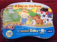 VTECH VSMILE BABY A DAY ON THE FARM GAME CONSOLE ACTIVITY CARTRIDGE BNIB