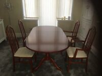 Dining table - extendable & 4 chairs