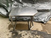 Various Stainless Steel Prep Tables, Shelves and Cabinet