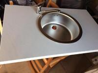 Worktop ,sink and mixer tap
