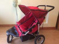 Designer Out n About Double Buggy 3 Wheeler Pram