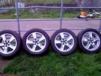 4 Genuine Toyota 16 in alloys 5x 100 with tyres,