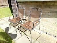 Metal Garden Chairs x2