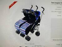 Blue kidz kargo side by side double stroller