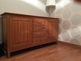 SOLD Laura Ashley Modern Solid Wood Sideboard. Very Good Condition