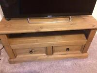 Mexican pine tv unit,coffee table,set of 3 tables for sale