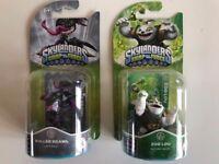 2 x Skylanders figures ! Brand new! Zoo Lou & Roller Brawl ! Swap Force